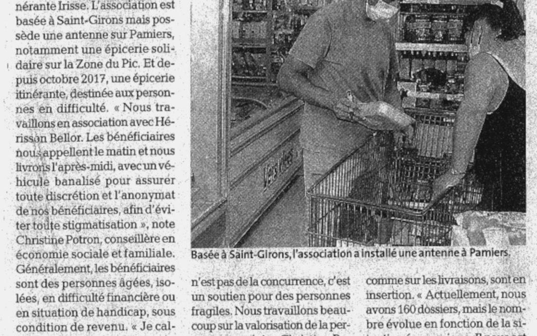 Irisse : L'Épicerie Sociale et Solidaire Itinérante fait parler d'elle sur la Dépêche !